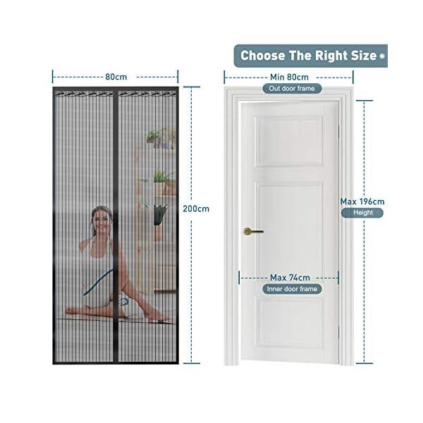 51to5sqsENL Magnet Fliegengitter Tür Vorhang für Holz