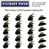 Patriot Brass LED Waterproof Pond and Landscape Lighting 66 Watt Light Kit P-H4
