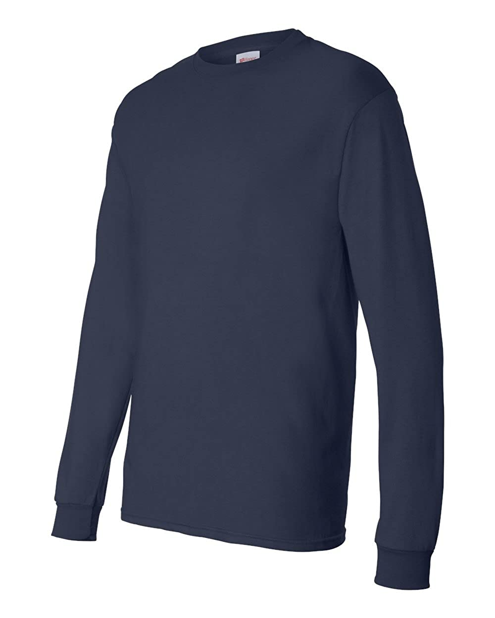 Navy ComfortSoft Cotton Long-Sleeve T-Shirt Hanes Mens 5.2 oz