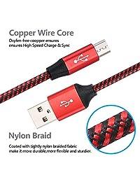 Bynccea - Cable micro USB 2.0 de alta velocidad para carga y sincronización de teléfonos móviles