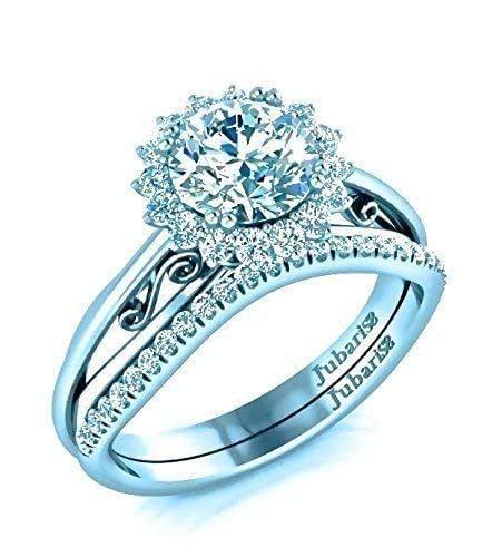 Amazon.com: Round Halo Diamond Engagement Ring & Wedding