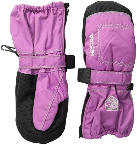 Hestra Mittens for Baby: Kids Zip Long Mitten with Primaloft Insulation, Cerise, (Primaloft Insulation)