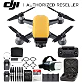 DJI Spark Portable Mini Drone Quadcopter Fly More Combo Virtual Reality Experience VR Bundle (Sunrise Yellow)