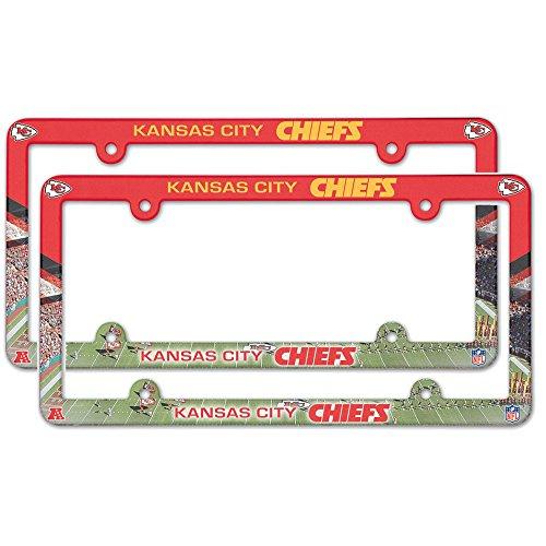 Chiefs Plastic License Plate - Kansas City Chiefs NFL Plastic License Plate Frame - 2 Pack