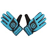 Chelsea FC Childrens/Kids Official Football Crest Goalkeeper Gloves (Youth) (Blue/Black)