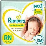 Fralda Pampers Premium Care 36 Unidades, RN