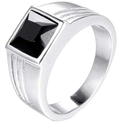 Amazon.com: Jude Jewelers - Anillo de acero inoxidable con ...