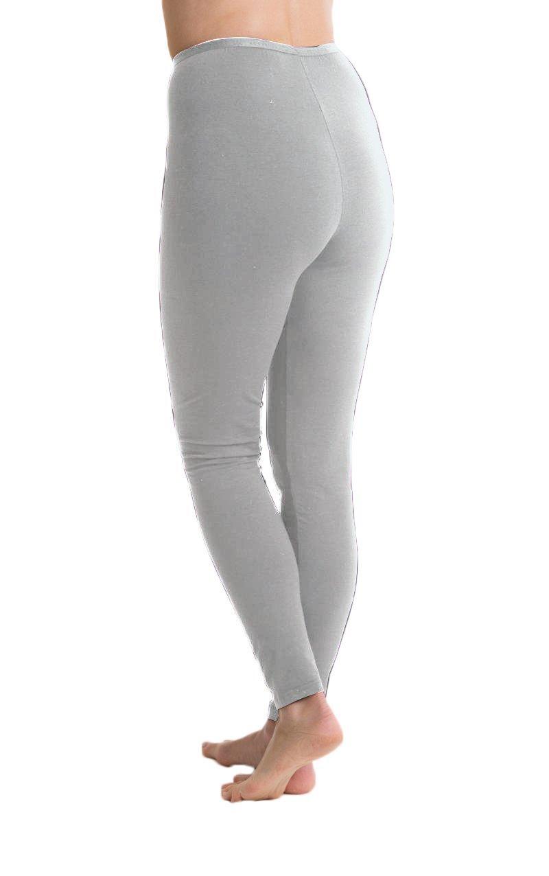 Passionelle Ladies Full Length Luxury Leggings Cotton With Legging Rich 4pc Elastane Spandex Gawo0759