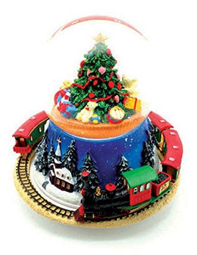 Palla di neve con l'albero di Natale e treno MMM GmbH 55052