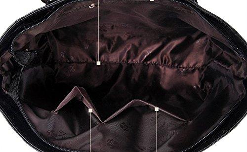 Tibes Bolso Mujer Cuero Bolso Bolso de Crossbody Billetera Bolsa de móvil Titular de la llave Juego de 6 piezas Cartera Rojo