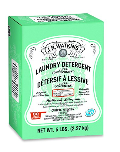 J.R. Watkins Laundry Powder Detergent, Dye & Fragrance Free, 5 lb
