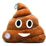 YINGGG Poop Emoji Plush Pillow Round Cushion Toy, 32 x 32 x 10 cm