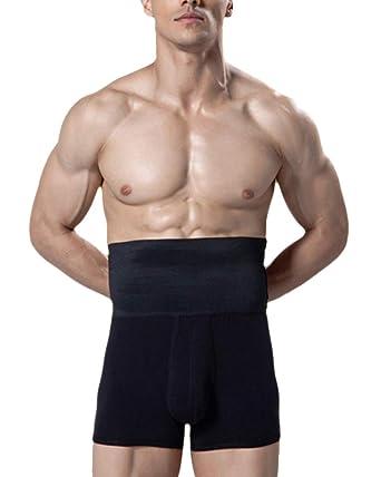 GODGETS Uomo Mutande Pantaloncini Dimagranti Shapewear di Vita Alta Boxer Contenitivo Modellante Cintura Regolabile Elastica Corpo