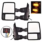 Nova Pair 08-16 Ford F250 F350 F450 F550 Towing Mirrors Power Heated With Smoke Turn Signal Light Side View Mirrors For Super Duty 2008 2009 2010 2011 2012 2013 2014 2015 2016