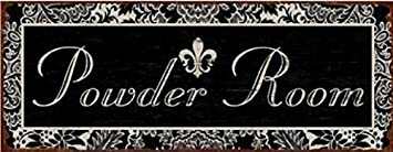 Door Signs Poster Tin Sign – Powder Room 18 x 7 inches