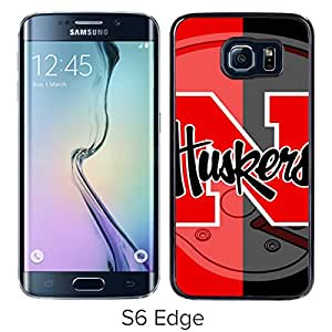 Excellent protection,Lightweight and durable Ncaa Big Ten Conference Football Nebraska Cornhuskers 4 Black Samsung Galaxy S6 Edge Case