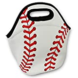 KnitPopShop Baseball Zipper Cooler Lunch Bag Insulated Gifts Washable Neoprene