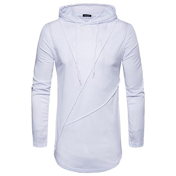 ♚Btruely Herren Camisetade Hombres de Larga Blusa Sudaderas con Capucha de Cuello Redondo de Manga