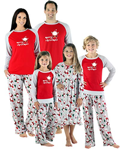 SleepytimePjs Christmas Family Matching Fleece Santa Pajama PJ Sets-Womens (STMF-4036-W-XL) -