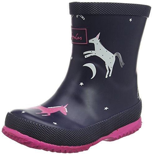 Joules Baby French Navy Unicorns Wellington Boots