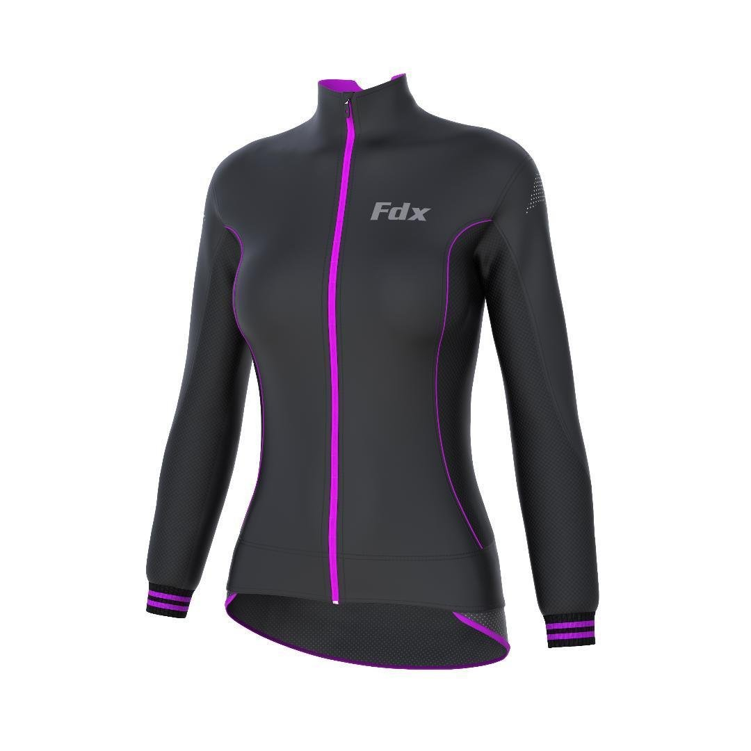 FDX Ladies Cycling SoftShell Jacket Windstopper Thermal Womens Running Jacket