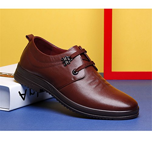 Men's Brown Breathable Round Shoes Leather Shoes Fashion Jackdaine Men Casual Xq0wxz0Zf