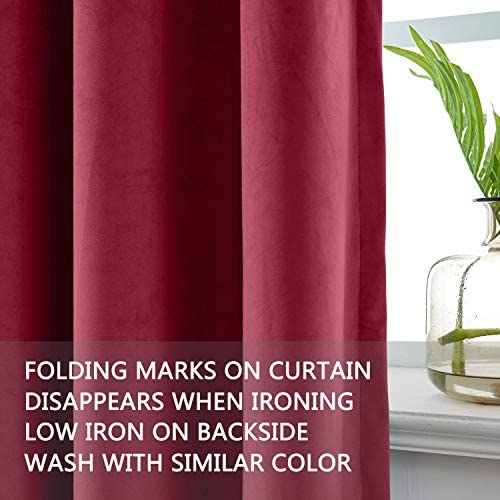 cololeaf Extra Long and Wide Velvet Curtains Goblet Blackout Lined Curtain Thermal Insulated Patio Door Curtain Panel Drape