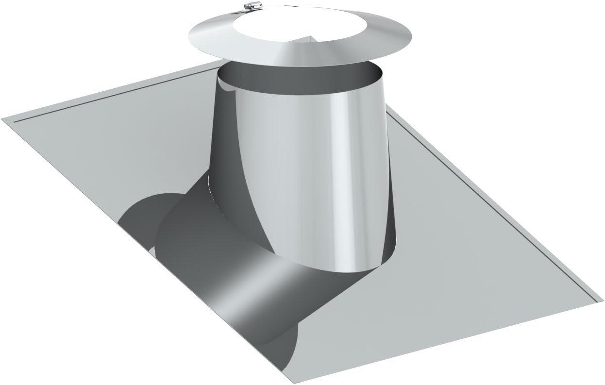 Dachdurchf/ührung 26/° 35/° mit Wetterkragen f/ür doppelwandige Schornsteine DW; passend f/ür Rohre mit /Ø 180mm Au/ßendurchmesser