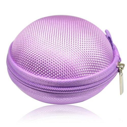 Earphone Headset Earbuds Hard Hold Case (Purple)
