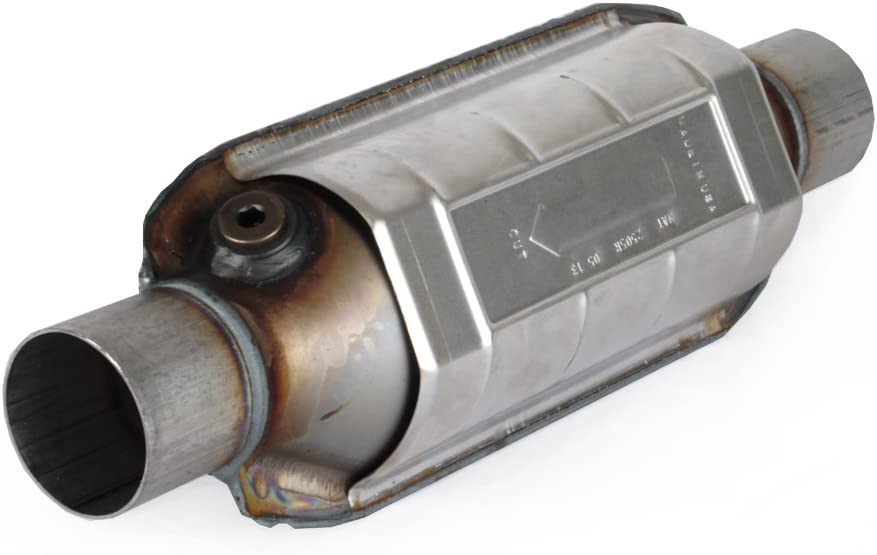 """AP Exhaust 608216 Universal Catalytic Converter 2.5/"""" In//Out w// O2 EPA OBDII"""