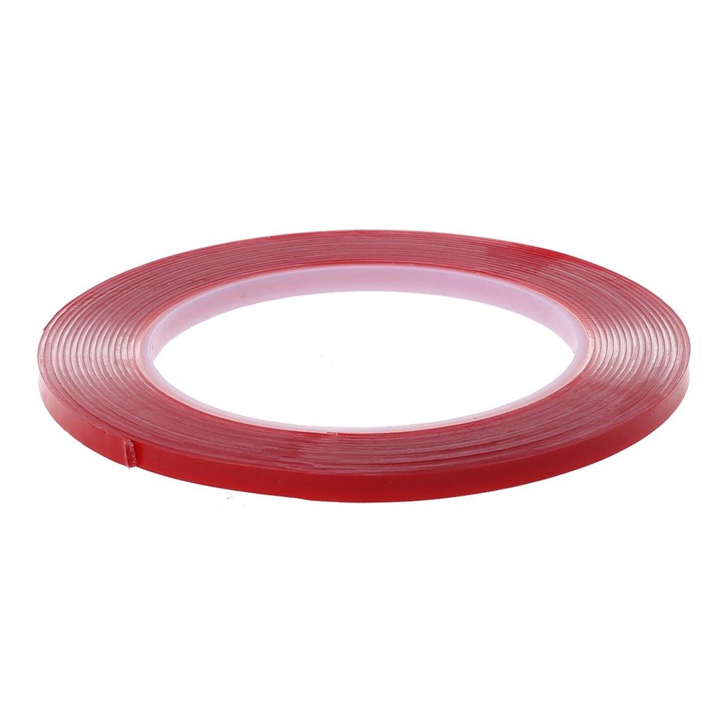 DACHUN11 5 m forte adesivo Red film trasparente double Side tape no Trace per il telefono schermo LCD, rosso
