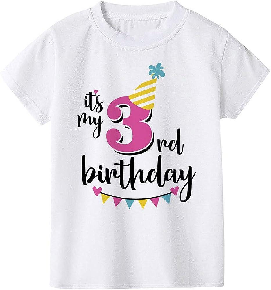 Mud Kingdom Cute Little Boys Girls Birthday Shirt Summer