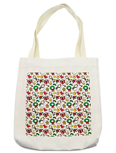 Lunarable Christmas Tote Bag, Classical Inspirational Wreath