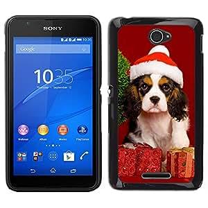 ZAKO CASE - Christmas Dog Puppy - FOR Sony Xperia E4 - Carcasa Funda Case Bandera Cover Armor Shell