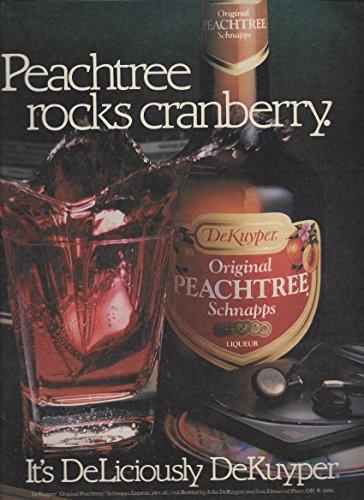 Peachtree Schnapps (MAGAZINE AD For 1990 Dekuyper Peachtree Schnapps Rocks Cranberry)