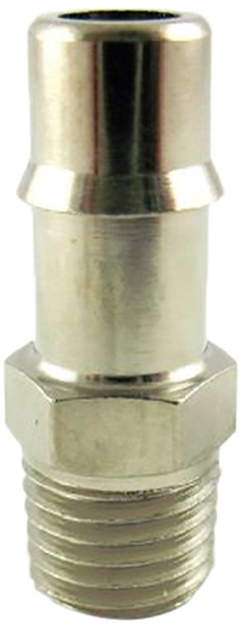 MettleAir 125NP-41-SB 1//4 ID 1//16 NPT Male Single Barb Hose//Tubing Fitting Connector Nickel Plated 125NP-41-SB-10PK Pack of 10
