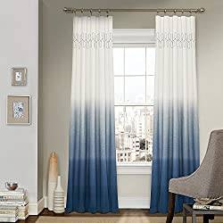 Vue Signature 14900052084IND Arashi 52-Inch by 84-Inch Fashion Single Window Drapery Panel, Indigo
