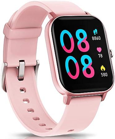 YANGOO Touch Screen Smartwatch para mulheres e homens com monitor de batimentos cardíacos e pressão arterial