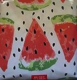 "Cooking Light PEVA Vinyl Tablecloth Watermelon Slice (60"" x 104"" Oval)"