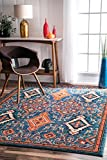 (US) nuLOOM KKCB16A Diamond Elayne Rug, 4' x 6' , Multicolor