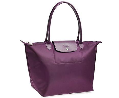 97fe497f43c Amazon.com  Longchamp Le Pliage Large Neo Tote, Bilberry (Purple ...