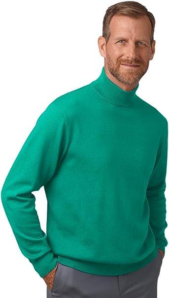 Paul Fredrick Mens Silk Cotton Cashmere Mock Neck Sweater