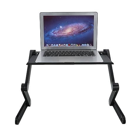 Portátil Ajustable de 360 Grados Portátil Notebook Table Stand Bandeja Lazy Plegable de aleación de Aluminio Computer Desk: Amazon.es: Hogar