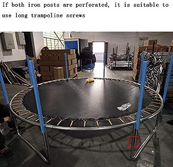 Necessary Trampoline Accessories Zhangming Trampoline Screws 10PCS Galvanized Steel Trampoline Screws 3 Inches Trampoline Stability Tool Set Trampoline Replacement Parts