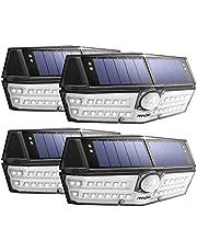 Mpow Nueva Generación 30 LED Luz Solar IP66 Impermeable, Iluminación de 270º, Sensor de Movimiento de 120°, Lámpara Solar de Pared Brillante para Jardín, Entrada, Patio, Garaje (4 Piezas)