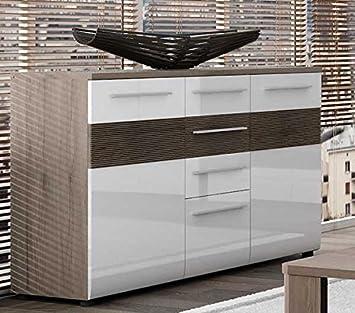 Kommode Schubkastenkommode Sideboard 16601601 Eiche Sanremo Dunkel