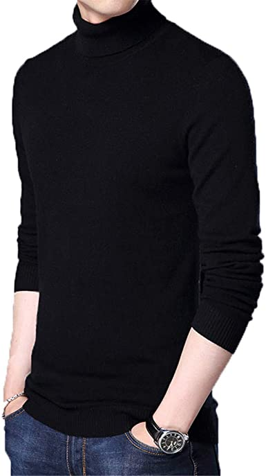 Winter Thick Cashmere Sweater Men Turtleneck Slim Fit Pullover Classic Wool Knitwear Pull Homme,Purple,4XL