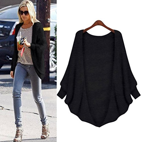 Women 3/4 Sleeve Knitted Cardigan Outwear Coat Sweater - 9