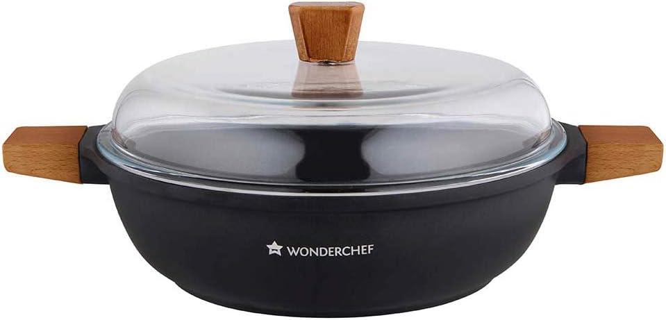 وعاء طهي سيزر بتصميم غير عميق أسود 28سنتيمتر من وندرشيف