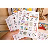 YPSelected Ensemble de 16 feuilles/320pcs papier journal Deco Craft Stickers Sticker Scrapbooking cadeaux